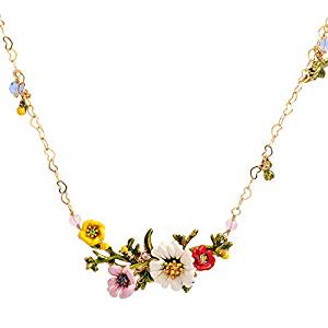 Floral Cloisonné Necklace