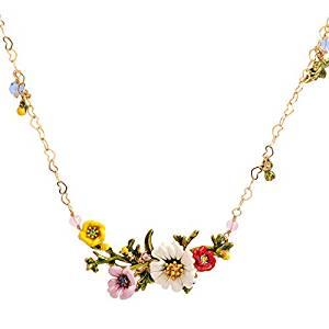 Floral Cloisonné Necklace