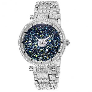 Gift for Her ♥ Women Watches with Crystals Premium Austria Crystal Accented & Platinum Plated Stainless Steel Band Rose, Princess Watches for Women Rose Gold, Wrist Watches for Women Japan Quart