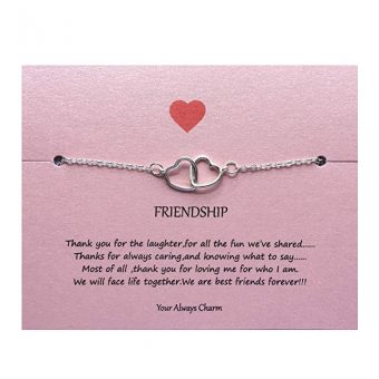 Interlocking Heart Friendship Bracelet