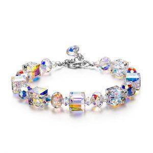 LADY COLOUR Bracelet ♥Valentine Gift Idea♥ A Little Romance Series Adjustable 7-9 in Bracelet for Women, Crystals from Swarovski