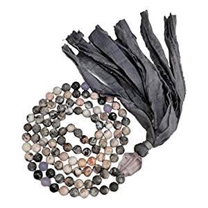 Mala Bead Tassel Necklace