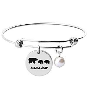 Mama Bear Wire Charm Bracelet