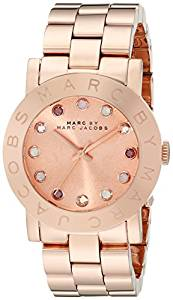 Marc by Marc Jacobs Women's MBM3216 Crystal-Accented Rose Gold-Tone Stainless Steel Watch