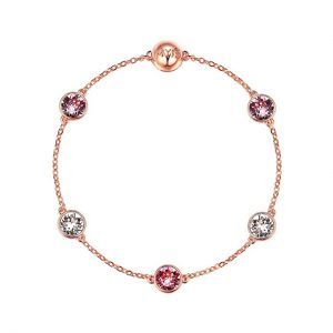 My Jewellery Story MYJS Remix Collection Timeless with Swarovski Pink Crystals Rose Gold Plated