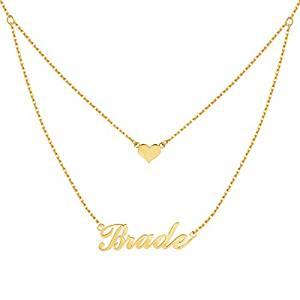 Yoke Style Nameplate Necklace