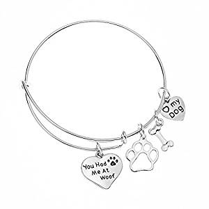 You Had Me At Woof Dog Lovers Charm Bracelet