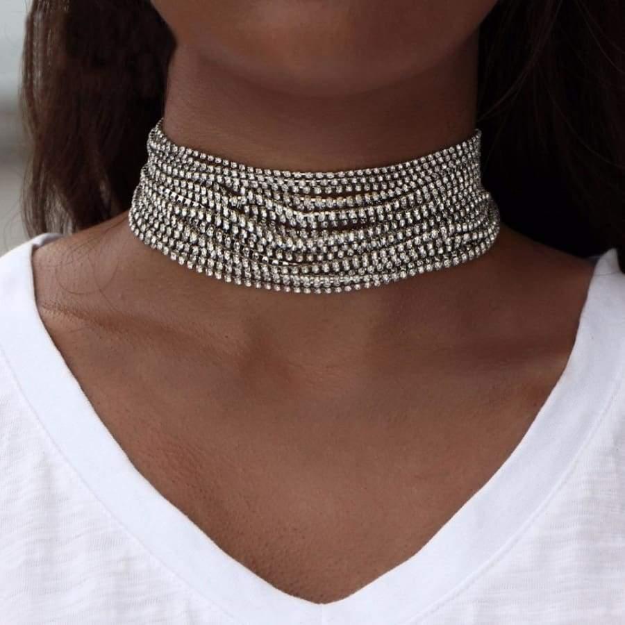 59876221a7 Rhinestone Chokers That Celebs Love Wearing | Jewelry Jealosy