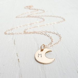 10. Camilee Designs Rose Gold Moon Necklaces