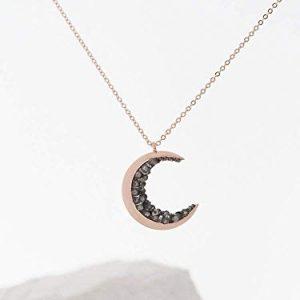 3. MJLuLu Rose Gold Moon Necklaces