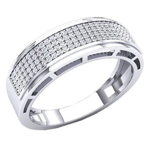 7. Dazzling rock0.30 Carat (Ctw) 10K White Diamond Ring