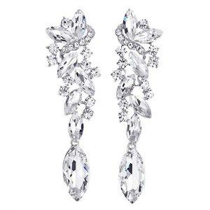 6. Art Deco Rhinestone Marquise Clusters Bridal Earrings