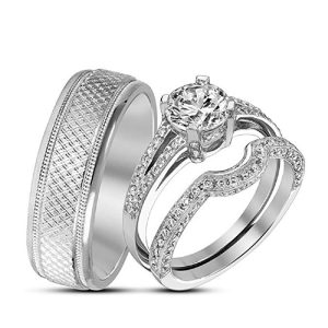 8. Round Cut Solitaire Contoured Complementary Set