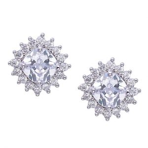 9. SWEETV Stud Bridal Earrings