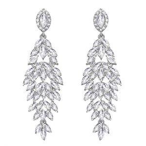 10. BriLove Crystal Pendants Bridal Earrings