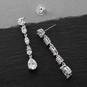 8. Mariell Gorgeous Cubic Zirconia Bridal Earrings