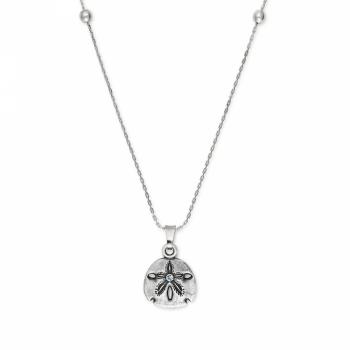 Alex and Ani Sand Dollar II EN Rafaelian Silver Chain Necklace
