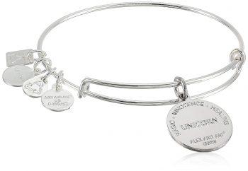 Alex and Ani Unicorn Expandable Shiny Silver Bangle Bracelet