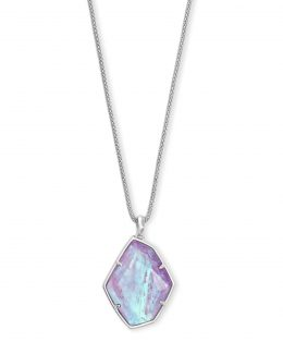 Kendra Scott Kalani Pendant Necklace Silver/Amethyst Dichroic Glass
