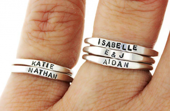 Teeny Tiny Stacking Sterling Silver Ring By Hannah Design Personalized Ring