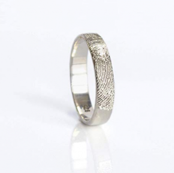 Actual Fingerprint or Handwriting Ring by Danique Jewelry