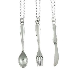 Spoon, Fork, Knife Best Friends Necklace, Set of 3