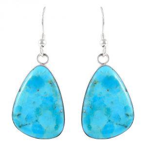 Turquoise Earrings Sterling Silver 925 & Genuine Gemstones