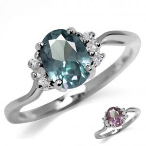 White Gold Plated Engagement Ring