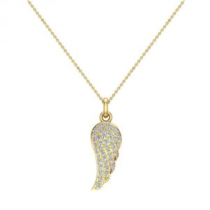 Diamond Pendant Necklace with 14K Gold