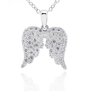 GemsChest Sterling Silver Pendant Necklace