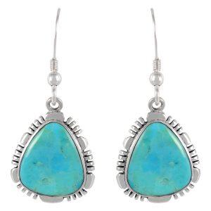 urquoise Earrings in 925 Sterling Silver & Genuine Gemstones