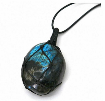 Netted Labradorite Necklace
