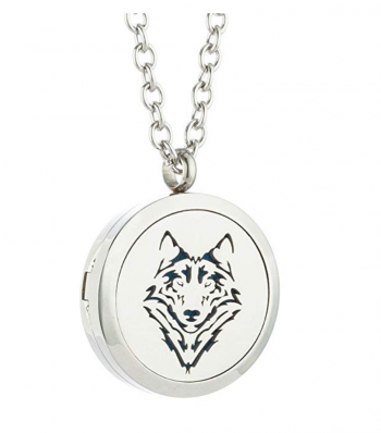 JAOYU Essential Oil Diffuser Wolf Necklace