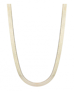 """Floreo 10k Yellow Gold Super Flexible Silky Herringbone Chain Necklace for Women and Men, 0.3"""" (8mm)"""