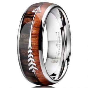 THREE KEYS JEWELRY Viking Wooden Ring