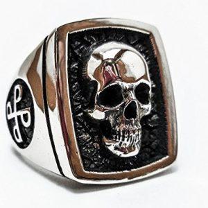 Phantom Skull Ring, 925 Sterling Silver Style Heavy Biker Harley Rocker Men's Jewelry, Skull ring