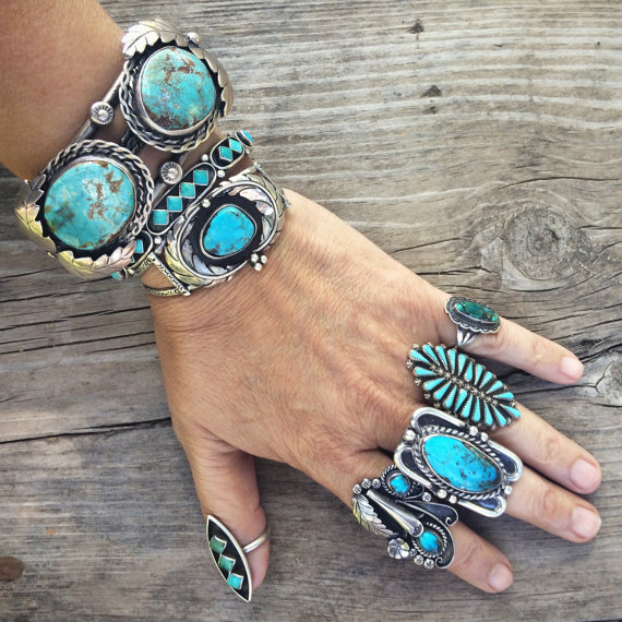 Old Native American Navajo indian turquoise jewelry
