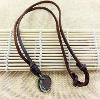 Men's Vintage Punk Rock Style Camera Shape Leather Necklace Chain Cowboy Jewelry