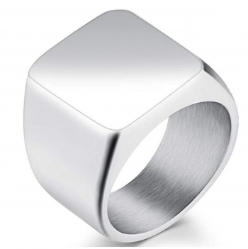 Jude Jewelers Stainless Steel Signet Ring Black Silver Classical Cocktail Husband Father Valentine
