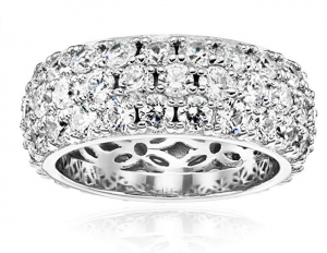 Amazon Collection Round-Cut Pave Ring