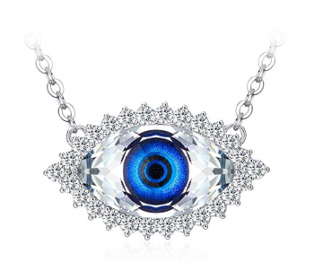 Evil Eye Jewelry - Tojean Gifts for Mom 'Evil Eye' Women Necklace Blue Eye Pendant Made with Swarovski Crystal, Jewelry for Women, for Lover