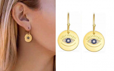Evil Eye Jewelry - ANDANTINO 18K Gold Plated Women's Copper/Alloy Earring- with Various Style Ear Studs- Gift for Mom