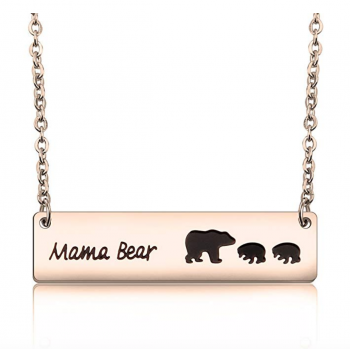 MAOFAED Sweet Mama Bear Necklace for Mom Grandma Wife Godmother Necklace