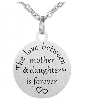 Mother Daughter Son Love Forever Necklace Pendant Stainless steel pendant necklace Mothers Gift