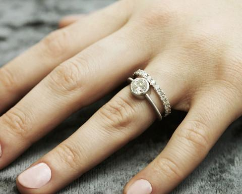 bezel ring shape -Solitaire engagement rings