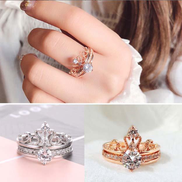 princess crown rings