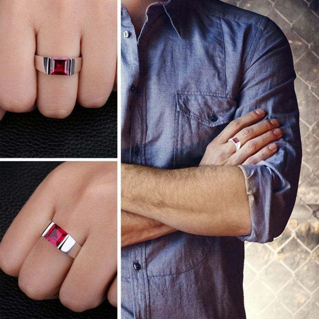 ruby ring men