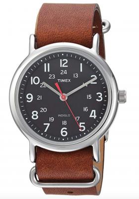 Leather Watch for Women - Timex Unisex Weekender 38mm Watch
