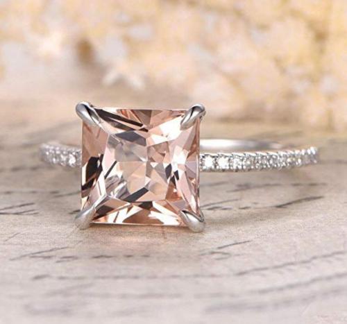 Rjewelry Carat Antique Design Princess Cut Engagement Ring