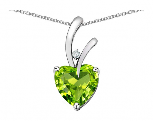 Star K Choice of 10k Gold or Sterling Silver Heart Pendant
